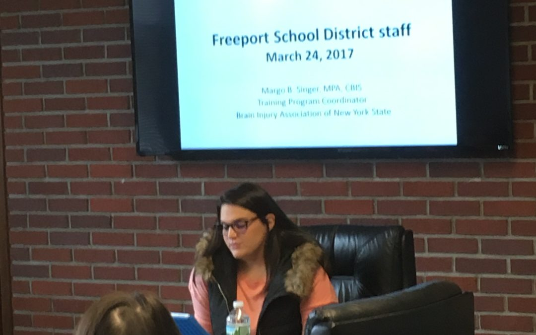 Jenna Speaks to Freeport School District Social Workers and Psychologists