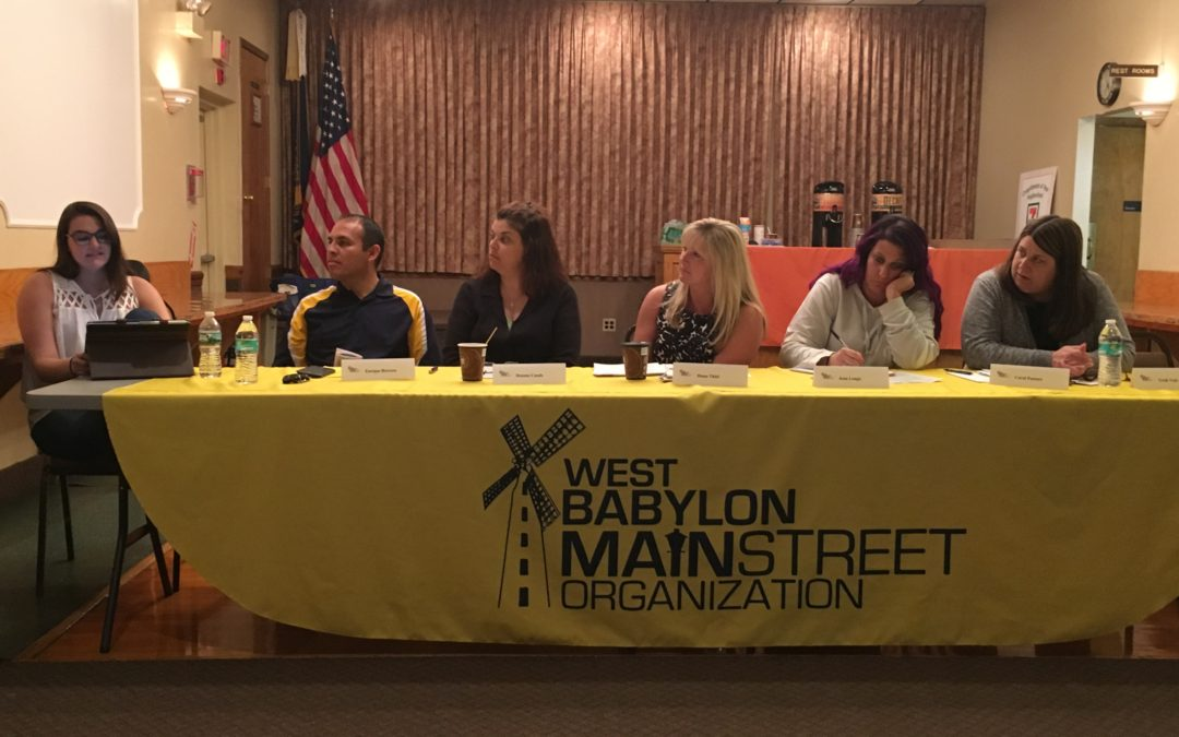I spoke at the West Babylon Main Street Association meeting